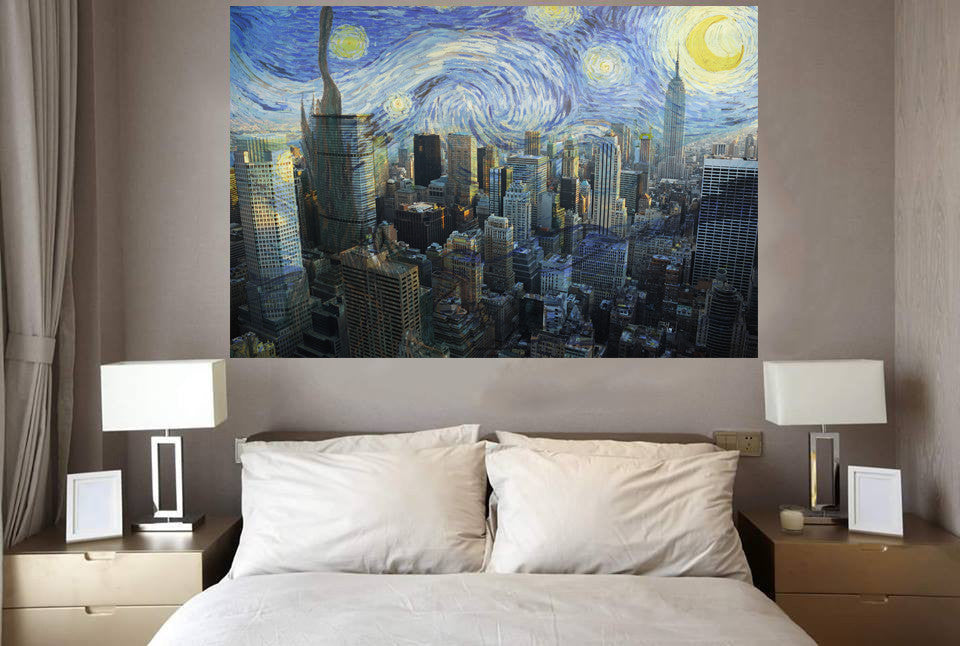 Zapwalls Decals Starry Night New York City Skyline Part 93