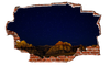 Zapwalls Decals Starry Night Red Rock Mountain Side Breaking wall Nature