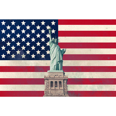 Zapwalls Decals Statue America USA Flag