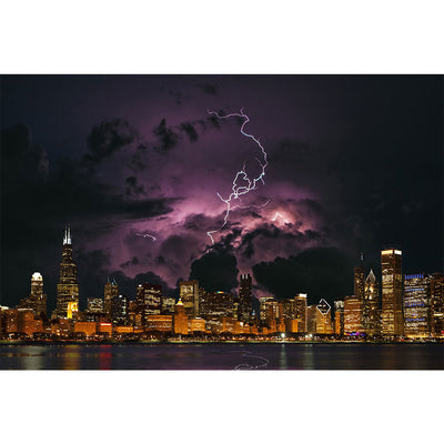 Zapwalls Decals Stormy Chicago