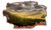 Zapwalls Decals Stormy Hillside Clouds Breaking wall Nature