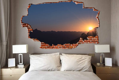 Zapwalls Decals Sunset Cliffs Edge Breaking wall Nature