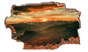 Zapwalls Decals Sunset Mountainside Red Clouds Breaking wall Nature