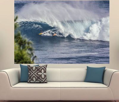 Zapwalls Decals Two surfer Massive Wave
