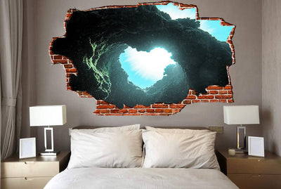 Zapwalls Decals Underwater Canyon Hear Breaking wall Nature