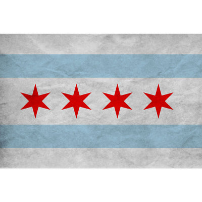 Zapwalls Decals Vintage Chicago Flag Wall Graphic
