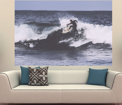 Zapwalls Decals Vintage Surfer Wave