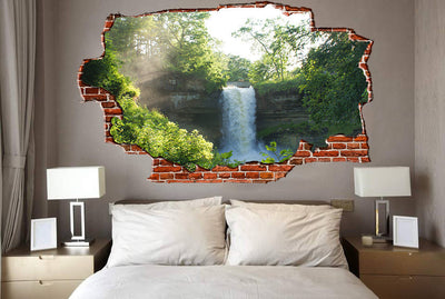 Zapwalls Decals Water Fall in Forest Breaking wall Nature