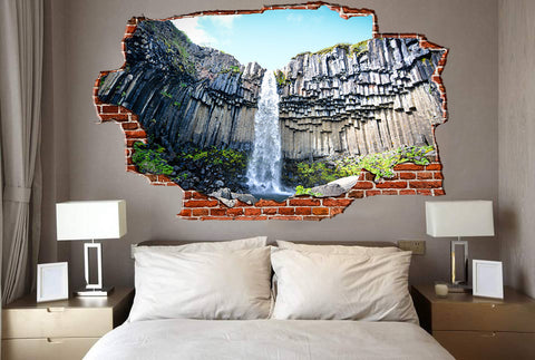 Zapwalls Decals Waterfall From Below Breaking wall Nature
