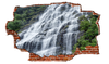 Zapwalls Decals Waterfall Streaming Downside of Cliff Breaking wall Nature