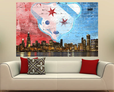 Zapwalls Decals Waveland North Side Chicago Skyline