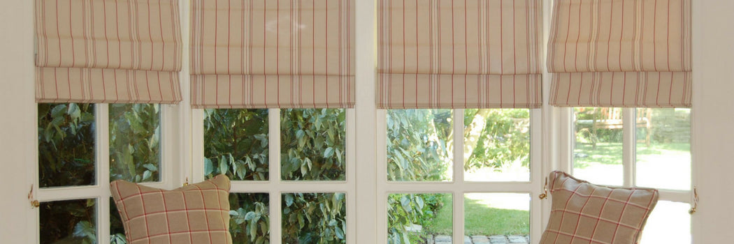 Striped Made To Measure Roman Blinds