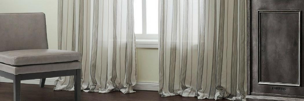 Striped Voile Made To Measure Curtains