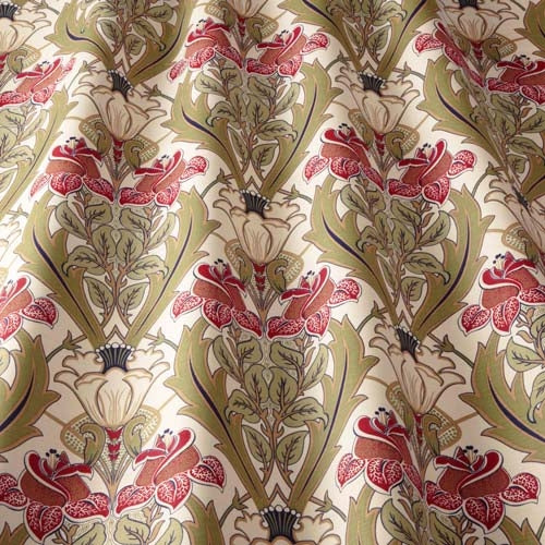 Acanthus Cherry Curtains