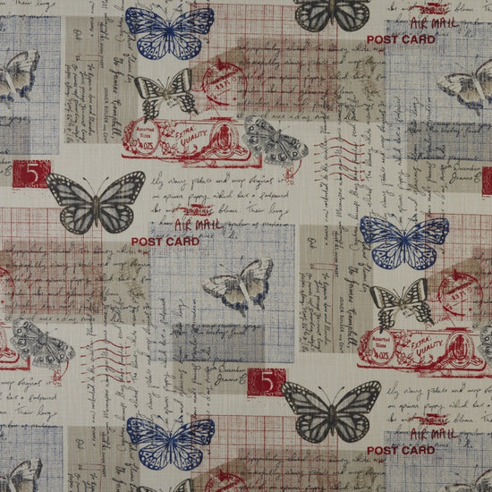 Air Mail Coral Curtains