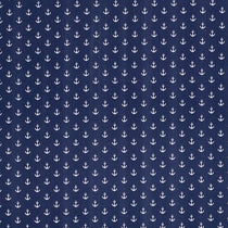 Anchors Navy Roman Blinds