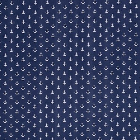 Anchors Navy Curtains