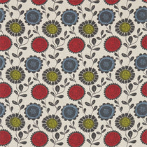 Anneke Poppy Kiwi Charcoal 120371 Roman Blinds