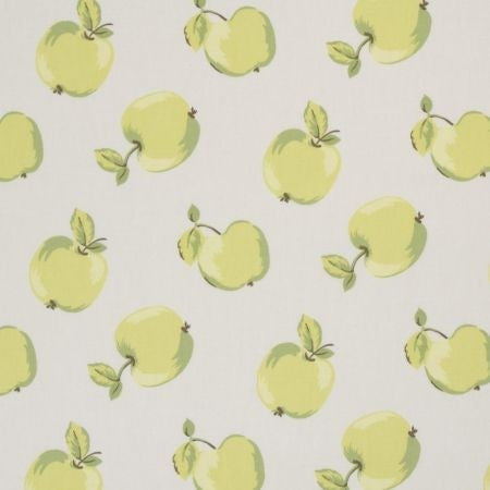 Apples Green Curtains