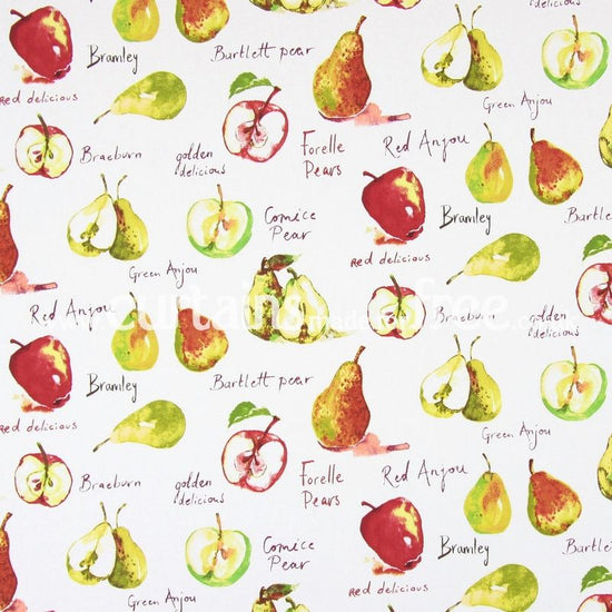 Autumn Fruit Watercolour Curtains
