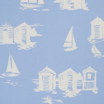 Beach Huts Blue Roman Blinds