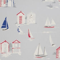 Beach Huts Grey Roman Blinds