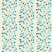 Berry Tree Peacock Powder Blue Lime and Neutral 120049 Curtains