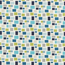 Blocks Chalk Indigo Denim and Lime 120077 Curtains