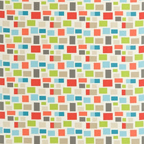 Blocks Chalk Neutral Lime Powder Blue and Coral 120078 Curtains