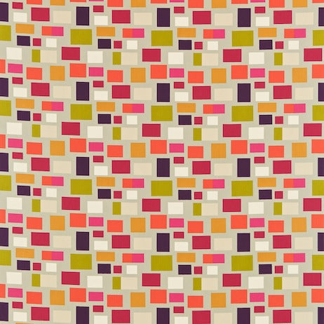 Blocks Putty Plum Fushcia Lime and Tangerine 120079 Curtains