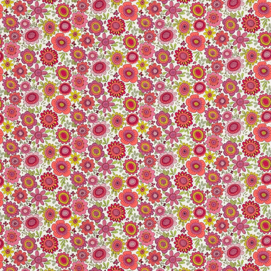 Bloomin Lovely Sherbet Raspberry Chalk 120448 Curtains