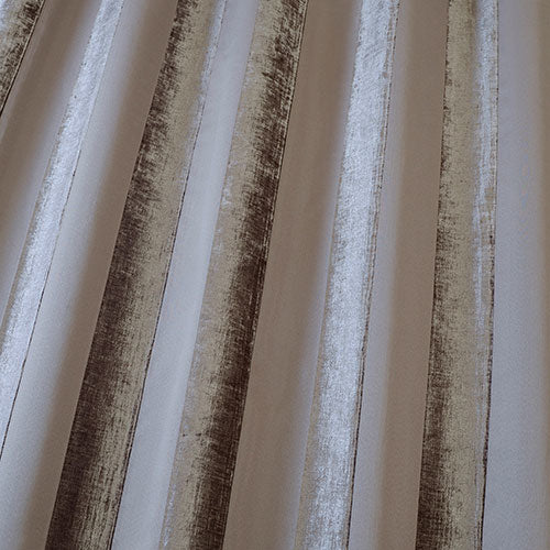 Boheme Stripe Mocha Curtains