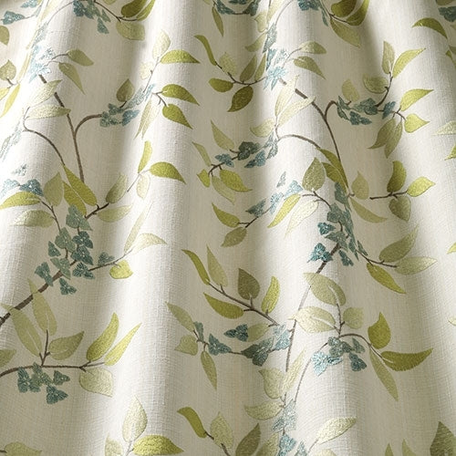 Bougainvillea Celadon Curtains