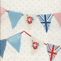 Bunting Blue Roman Blinds
