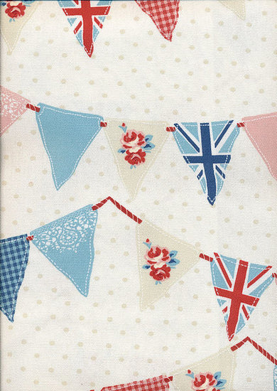Bunting Blue Curtains