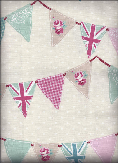 Bunting Pink Curtains