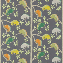 Calmer Chameleon Moss Citrus Charcoal 120459 Fabric by the Metre