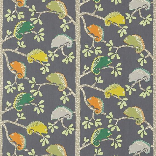 Calmer Chameleon Moss Citrus Charcoal 120459 Curtains