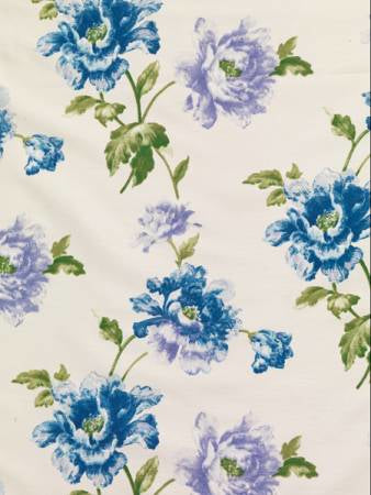 Camellia Bluebell Curtains