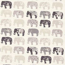 Elephants Natural Curtains