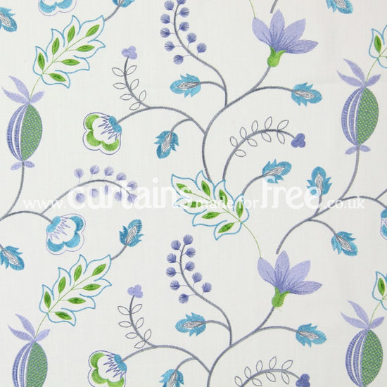 Fiorella Azure Curtains