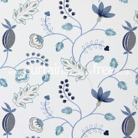 Fiorella Indigo Curtains