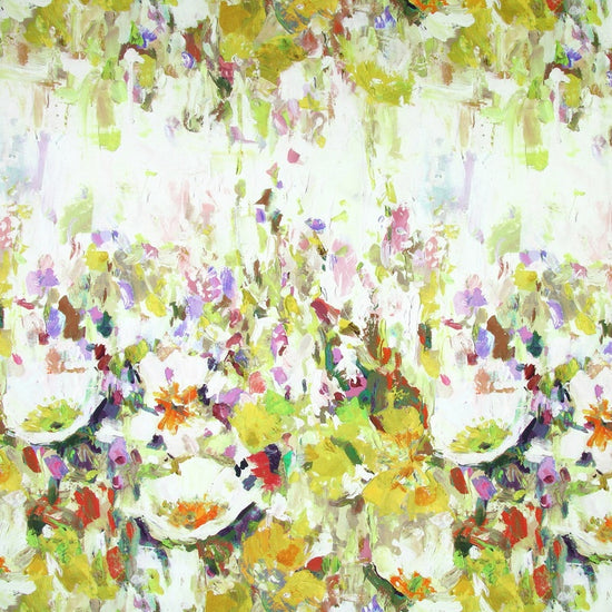 Flower Garden Ochre Curtains