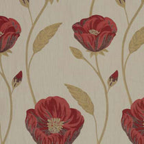 Freesia Red Curtains