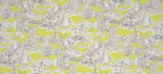 Manor Toile Citrus Curtains