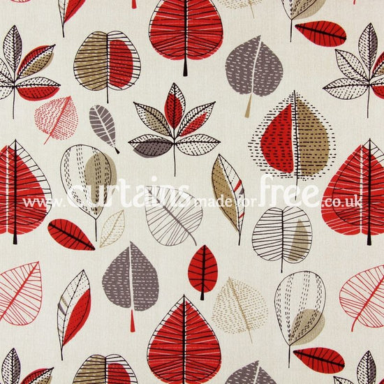 Maple Red Berry Curtains