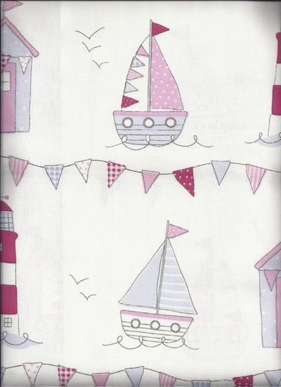 Maritime Pink Curtains
