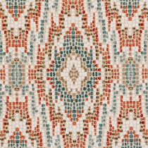 Mosaic Teal Fabric by the Metre