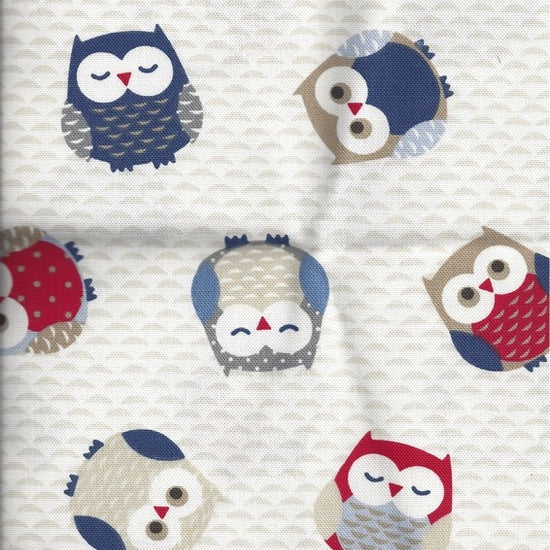 Owls Blue Curtains