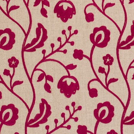 Raja Raspberry Curtains